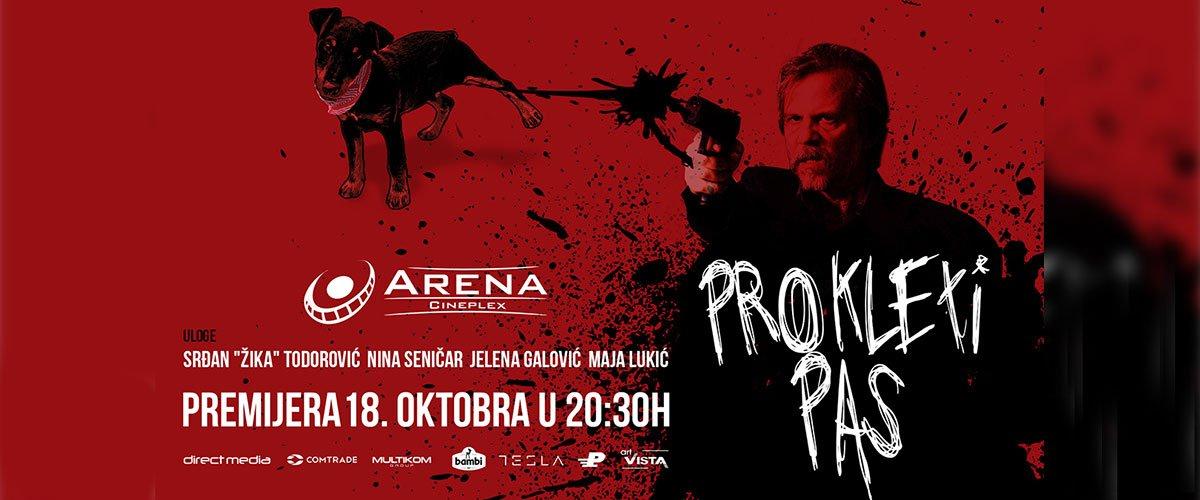 Akciona crna komedija Prokleti pas stiže premijerno 18.10. Budite deo svečane premijere i pozdravite ekipu filma aplauzom!
