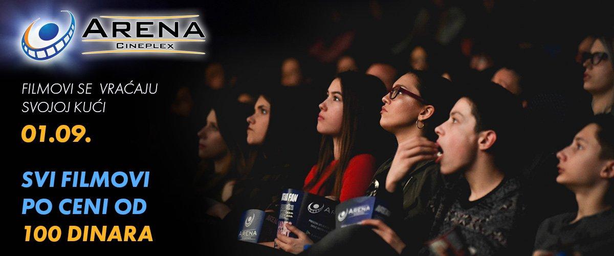 Publika će 1. septembra moći da pogleda neke od najgledanijih filmova iz prethodnog perioda po specijalnoj ceni od 100 dinara