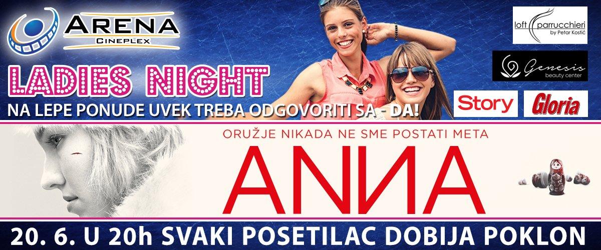 Ladies night, tematsko veče i pokloni za svakog posetioca 20. juna u 20 časova uz novi film Luka Besona - Anna