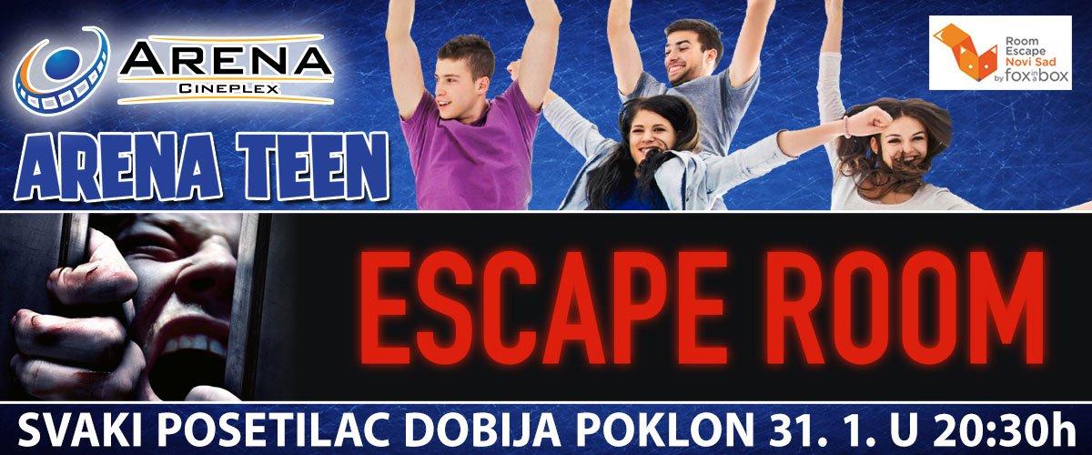 31.01. očekuje nas  uzbudljivi triler Escape Room! Svakog posetioca dobija poklon a neki od vas imaće priliku da osvoje i posebno Room Escape iskustvo