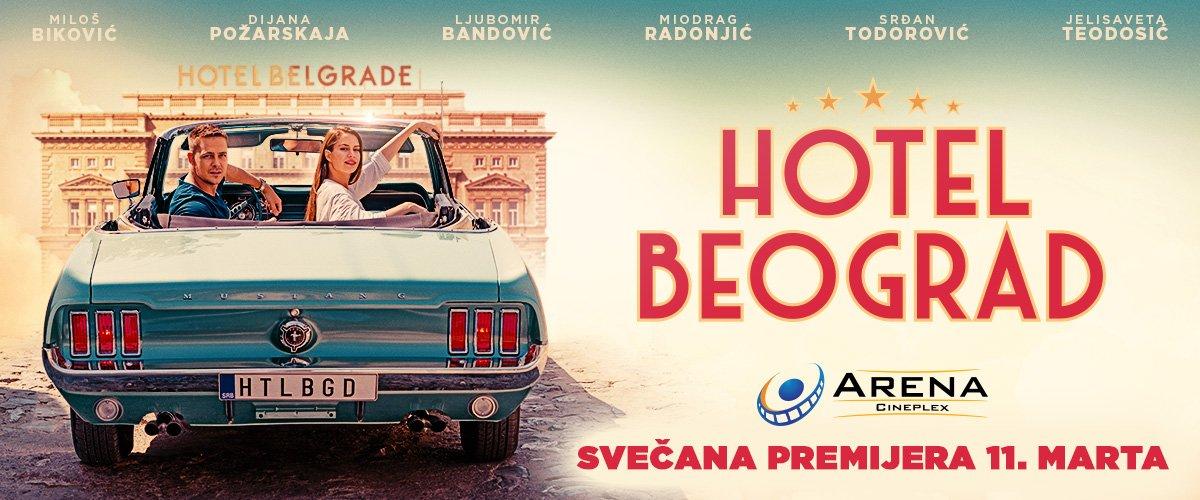 Glumačka ekipa filma Hotel Beograd na crvenom tepihu i pred publikom bioskopa Arena Cineplex