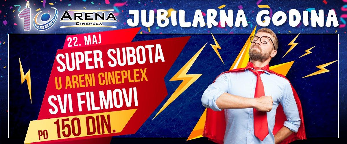 Super subota donosi uživanje u svim filmovima sa repertoara po ceni karte od samo 150 dinara! Karte su u prodaji